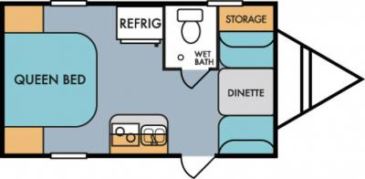 2019 Riverside RV Retro 177SE floorplan