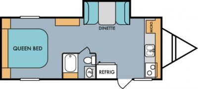2019 Riverside RV Retro 199FKS floorplan