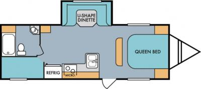 2019 Riverside RV Retro 265BH floorplan