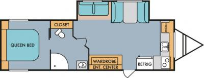 2019 Riverside RV Retro 285FK floorplan