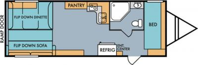 2019 Riverside RV Retro 827 floorplan