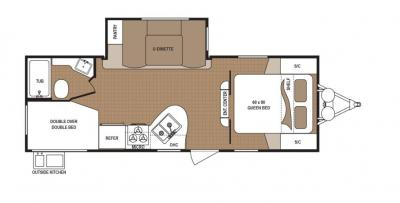 2019 Dutchmen Aspen Trail 2340BHS floorplan