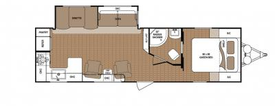 2019 Dutchmen Aspen Trail 2880RKS floorplan