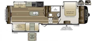 2019 Keystone Cougar 311RES floorplan