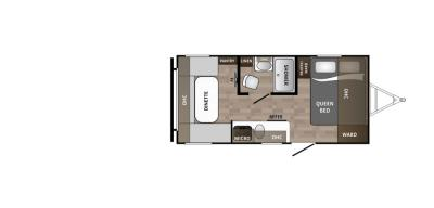 2019 Dutchmen Kodiak 176RD floorplan
