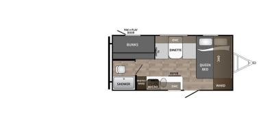 2019 Dutchmen Kodiak 175BH floorplan