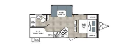 2019 Dutchmen Kodiak  240BHSL floorplan