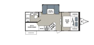 2019 Dutchmen Kodiak  243BHSL floorplan