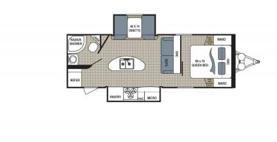 2019 Dutchmen Kodiak  253RBSL floorplan