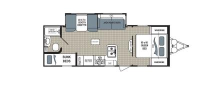 2019 Dutchmen Kodiak  255BHSL floorplan