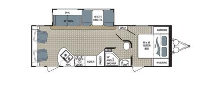2019 Dutchmen Kodiak  264RLSL floorplan
