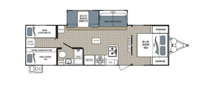 2019 Dutchmen Kodiak  283BHSL floorplan