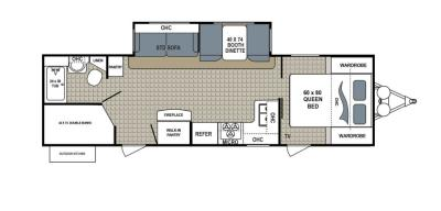 2019 Dutchmen Kodiak  288BHSL floorplan