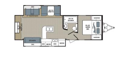 2019 Dutchmen Kodiak  291RESL floorplan