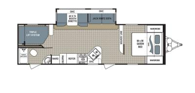 2019 Dutchmen Kodiak  295TBHS floorplan