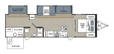 2019 Dutchmen Kodiak  299BHSL floorplan