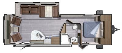 2018 Highland Ridge RV Light LT271RLS floorplan