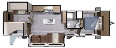 2018 Highland Ridge RV Light LT312BHTS floorplan