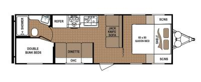 2019 Dutchmen Aspen Trail 25BH floorplan