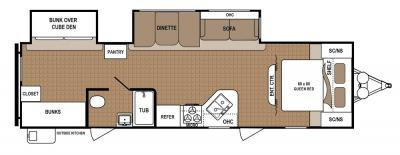 2019 Dutchmen Aspen Trail 31BH floorplan