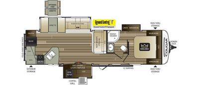 2019 Keystone Cougar Half Ton 33MLS floorplan