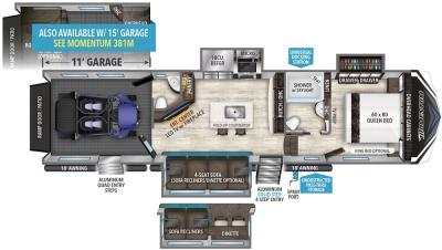 2019 Grand Design Momentum 351M floorplan