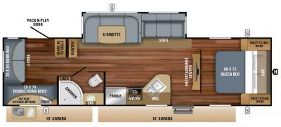 2019 Jayco Jay Feather 29QB floorplan