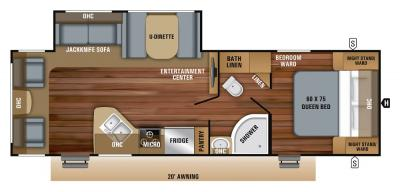 2019 Jayco Jay Feather 27RL floorplan