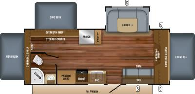 2019 Jayco Jay Feather X23E floorplan