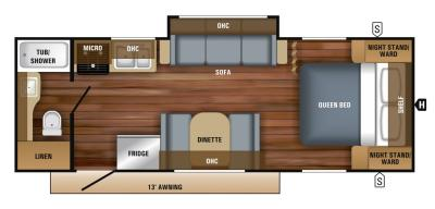 2019 Jayco Jay Feather 22RB floorplan