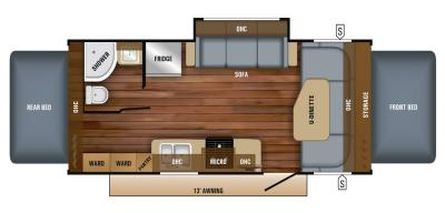 2019 Jayco Jay Feather X23B floorplan