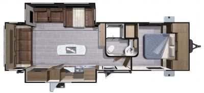 2018 Highland Ridge RV Light LT275RLS floorplan
