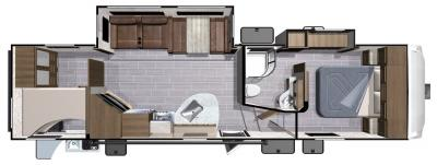 2018 Highland Ridge RV Light LF295BHS floorplan
