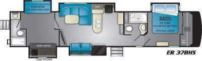 2019 Heartland ElkRidge 37BHS floorplan