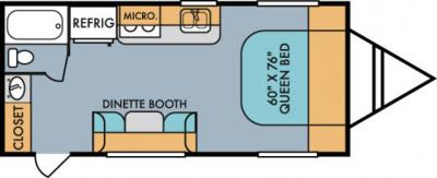 2019 Riverside RV Retro 189R floorplan