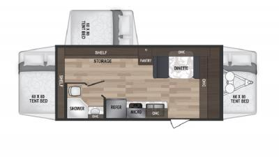 2019 Dutchmen Kodiak 179E floorplan