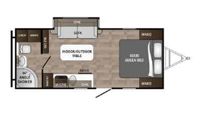 2019 Dutchmen Kodiak 185MB floorplan