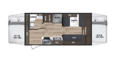 2019 Dutchmen Kodiak 186E floorplan