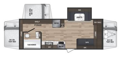 2019 Dutchmen Kodiak 222ES floorplan