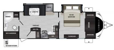 2019 Dutchmen Kodiak 2711BS floorplan