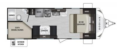 2019 Dutchmen Kodiak 227BH floorplan
