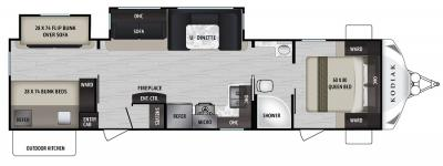 2019 Dutchmen Kodiak 332BHSL floorplan