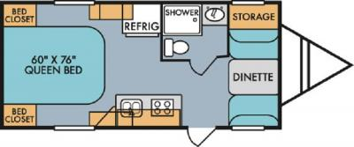 2019 Riverside RV Retro 179 floorplan